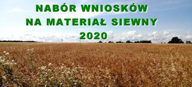 MATERIAŁ SIEWNY 2020-TRWA NABÓR WNIOSKÓW