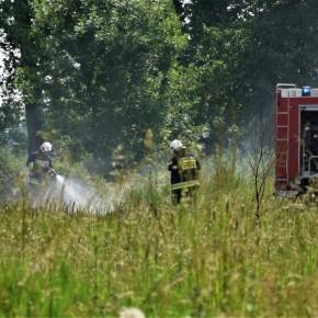 Podpalenie odpadów w Karnicach - ogień szczególnie niebezpieczny w czasie suszy